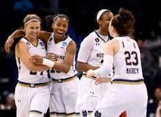 Lindsey Allen Notre Dame Basketball | From left, Notre Dame guard Hannah Huffman, guard Lindsay Allen, guard ... Notre Dame Womens Basketball, Women's Basketball, Lindsay Allen, Go Irish, Team Pictures, Fighting Irish, Sports, Facebook, Motivation