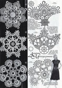 View album on Yandex. Crochet Shawl Diagram, Crochet Motifs, Crochet Chart, Thread Crochet, Crochet Doilies, Crochet Snowflake Pattern, Christmas Crochet Patterns, Crochet Snowflakes, Crochet Home