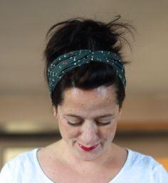 Bandeau cheveux - chutes tissus - patron gratuit - tutoriel - femme