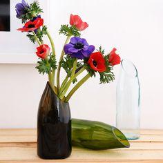 Upcycled glass bottle!