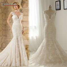 Find More Wedding Dresses Information about NS1333 Beautiful New Model Lace Mermaid Wedding Dresses Real ,High Quality dress tutu,China dress trend Suppliers, Cheap dresses rose from Amanda Novias Wedding Dress Factory on Aliexpress.com