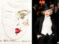 Get the tutorial for Madonna's Marlene Dietrich Makeup Look from her makeup artist, Sammy Mourabit. #howto