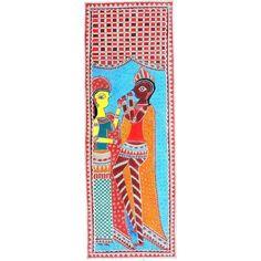 COLORED KRISHNA AND RADHA http://www.indiancraftsmen.com/art-c4ca4238a0b923820dcc509a6f75849b/madhubani/colored-krishna-and-radha