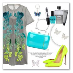 """""""Graceful butterfly"""" by teryblueberry ❤ liked on Polyvore featuring Bling Jewelry, Matthew Williamson, Spring Street, Christian Louboutin, Rocio, MAC Cosmetics, Gucci, Lauren B. Beauty and MARBELLA"""