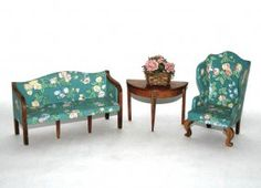 Vintage TynieToy Sofa and Chair