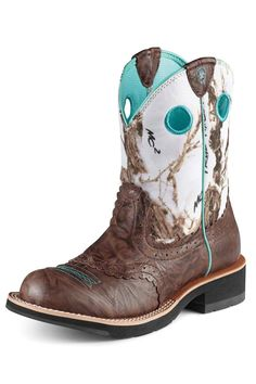 Ariat Fatbaby Brown Crinkle Snowflake Camo Boot $94.95