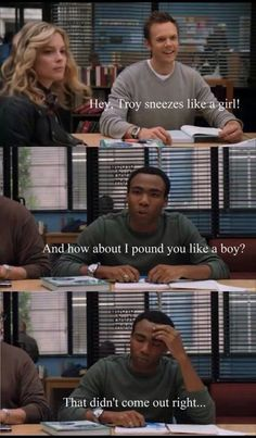 """Battle Of Shows: best of """"Community"""" Community Tv Series, Community Quotes, Tv Show Quotes, Movie Quotes, Donald Glover, Film Serie, Best Tv Shows, Along The Way, Girls Be Like"""