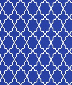 Michael Miller Moroccan Lattice Cobalt Fabric Arabesque Tile, Michael Miller, Pillow Fabric, Kitchen Nook Bench, Kitchen Chairs, Tile Patterns, Dining Room Inspiration, Moroccan Fabric, Gator Game