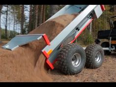 Ultratec ATV trailer with Hydraulic tipping & Polaris Ranger 570
