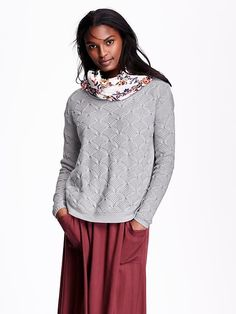 Relaxed Pointelle Sweater Product Image