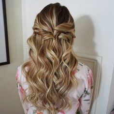 Simple, Curly Half Up Half Down Hairstyle for Prom or Special Occasions
