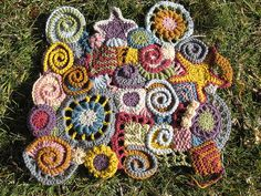 afghan squares. so cool.  http://www.flickr.com/photos/lrandolph/3236448235/in/set-72157603828856241/