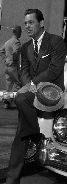 William Holden on the set of Sabrina (1954)