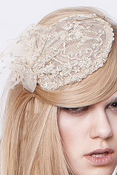 secret PAL  Fascinator beige lace by thesecretPal on Etsy, $45.50