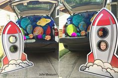 Heading to a Trunk or Treat Activity for Halloween? Make your trunk look out of this world with a Space Galaxy Trunk or Treat theme! Halloween Backdrop, Halloween Make, Holidays Halloween, Halloween Decorations, Halloween 2018, Halloween Ideas, Truck Or Treat, Fashion Art, Pumpkin Carving Contest