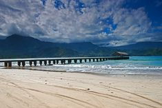 My favorite place in the whole world, looking for Puff the Magic Dragon! Hanalei Pier, Kauai, Hawaii