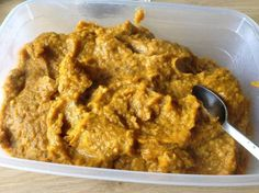 pompoen:linzen puree