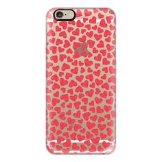 iPhone 6 Plus/6/5/5s/5c Case - RED HEARTS transparent ($40) ❤ liked on Polyvore featuring accessories, tech accessories, iphone case, iphone cover case, transparent iphone case and apple iphone cases