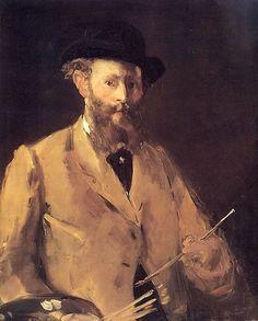 'Self-Portrait with Palette' by Edouard Manet via @dailyartapp | #art #dailyart