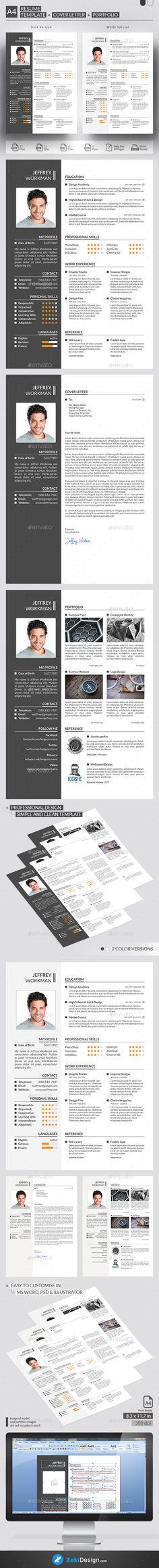 Resume Cv template, Resume cv and Professional resume - resume template psd