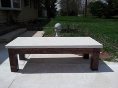 """Concrete Coffee table """"On sale"""" by Theconcreteartist on Etsy https://www.etsy.com/listing/150191156/concrete-coffee-table-on-sale"""