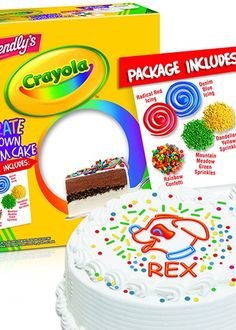 Decorate your own ice cream cake brought to you by Friendly's and Crayola!