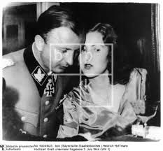 Another copy of the picture saying the woman in the picture is Gretl (Eva Braun's sister) and the man is her husband Hermann Fegeleins.