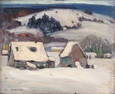 Paul, Quebec - artwork by Alexander Young Jackson - Canadian RCA. Find available paintings, past sales and valuation information on the artist Alexander Y. Jackson (A.Jackson) from Fine Arts Toronto Gallery. Tom Thomson, Emily Carr, Group Of Seven Art, Group Of Seven Paintings, Winter Landscape, Landscape Art, Landscape Paintings, Landscapes, Canadian Painters