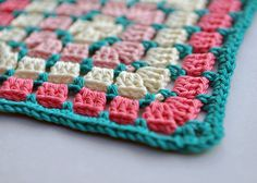 Chocolate Box Square from 200 Crochet Blocks, by Jan Eaton