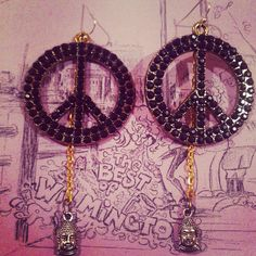 Peace and Buddha Dangle Earrings by addiewuensch on Etsy, $20.00