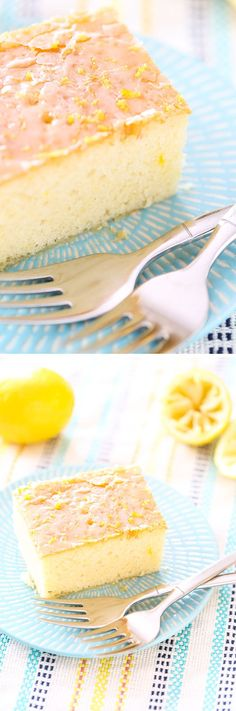 This recipe for Quick and Easy Iced Lemon Cake whips up a delicious, tender, moist snack cake in no time! Perfect for unexpected guests for tea!