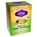 Yogi Tea Co Organic Triple Echinacea Green Tea 16 Tea Bags Per Box Pack Of  >>> You can find out more details at the link of the image.Note:It is affiliate link to Amazon.
