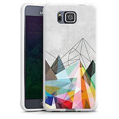 Samsung Galaxy Alpha Case Shell Cover Silicone Case white - Colorflash 3
