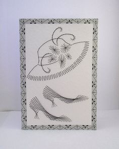 Hand Embroidered Greeting Card by StitchyStationery on Etsy, £3.50