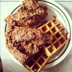 Fried Chicken and Waffles @ Mama's Food Shop new york