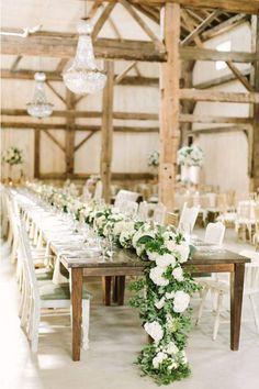 photo: Mustard Seed; Glamorous Green Wedding centerpiece idea;