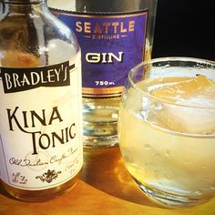 Friday cocktail time!  How about something simple and timeless?  A gin and tonic made with Washington's Best Gin and Everyone's Favorite Tonic, Kina by Bradley's Tonic Co.  We've got both in stock here at the tasting room. Drop in if you're nearby this weekend.