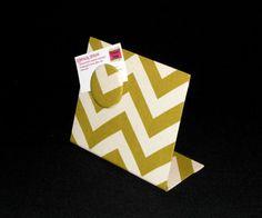 Fabric Magnet Board Chevron Mini-Board  Perfect by rememorydesigns
