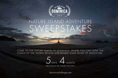 Help me win a trip to the Nature Island of Dominica through the #dominicachallenge Nature Island Adventure Sweepstakes!!