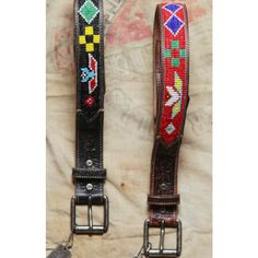 Will leather goods black Navajo belt - 100% genuine leather.