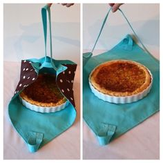 Pra levar bolo ou torta - Best Sewing Tips Diy Sewing Projects, Sewing Hacks, Sewing Tutorials, Sewing Crafts, Sewing Patterns, Sewing Tips, Pie Carrier, Casserole Carrier, Couture Sewing