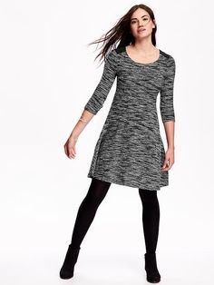 Bought this on clearance - yay! Old Navy Fit & Flare Knit Dress Also have black fleece tights