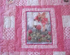 little girl quilt patterns | Quilts on Bastings: Pink Fairy Quilt for Breastcancer Awareness
