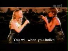 LOVE this song and movie! When you believe- Mariah Carey and Whitney Houston from Prince of Egypt