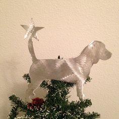 Beagle, Dog Tree Topper, Holiday Decoration, Wreath Decoration, Christmas, Aluminum, Dog Stars on Etsy, $32.00