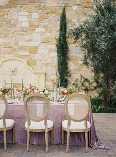 La Tavola Fine Linen Rental: Velvet Rose with Tuscany White Napkins | Photography: Donny Zavala, Design: Joy Proctor Design, Florals: Plenty of Petals, Rentals & Tabletop: The Tent Merchant, Paper Goods: The Idea Emporium, Venue: Malibu Rocky Oaks, Design Assistant: Camilla Loving