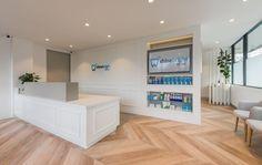 Medical Office Design, Front Desk, Alcove, Bathtub, Bathroom, Standing Bath, Washroom, Bathtubs, Bath Tube