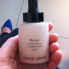 New Maestro foundation from Georgio Armani €45 avail 01/09 @brownthomas Dublin & Cork. It's like a velvety version of Mac Face & body and feels light on application