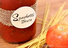 Spaghetti Sauce Recipe (Make extra and freeze the rest!) (she: Jamie)