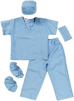doctor costume for preschool Nurse Costume, Costume Dress, Dress Up Outfits, Kids Outfits, Kids Scrubs, Career Costumes, Doctor Scrubs, Kids Dress Up, Dramatic Play